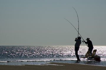 saltwater fishing at the Delaware seashore