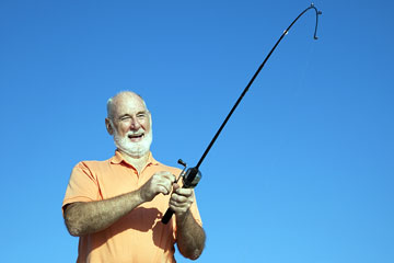 senior citizen fishing in Florida