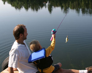 guys fishing - father and son fishing