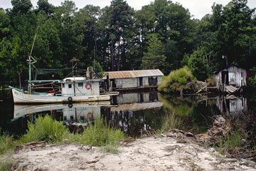old fishing boat on a Louisiana bayou