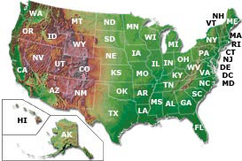 fishing tackle locator map