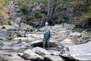 fly fishing - Great Smoky Mountains National Park